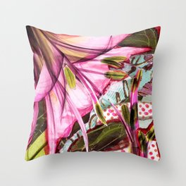 Pinkness Blooms Throw Pillow