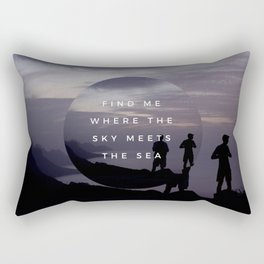 FIND ME WHERE THE SKY MEETS THE SEA Rectangular Pillow