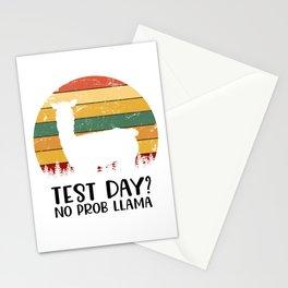 Test Day? No Prob Llama Stationery Cards