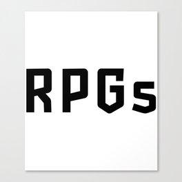 RPGs Canvas Print
