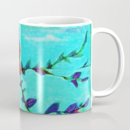 Red Love Birds Coffee Mug
