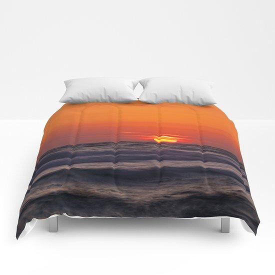 orange evening Comforters