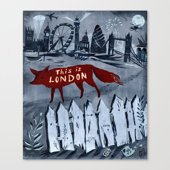 Locals/Only - London Canvas Print