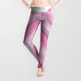 Soft Pink Agate Dream #1 #gem #decor #art #society6 Leggings