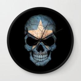 Dark Skull with Flag of Somalia Wall Clock