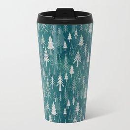 Christmas tree mix in arctic blues Travel Mug