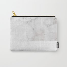 Modern pastel gray white elegant chic marble Carry-All Pouch