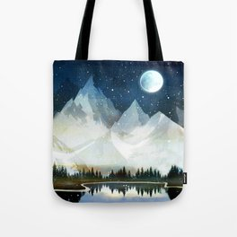 Mountain Lake Under the Starlight Tote Bag