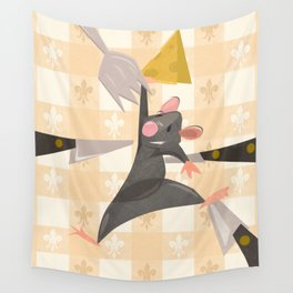 """""""Ratatouille Knives"""" by Meghann O'Hara Wall Tapestry"""