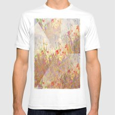Floral Fantasy White Mens Fitted Tee MEDIUM