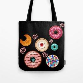 Doughnut Run Black Tote Bag