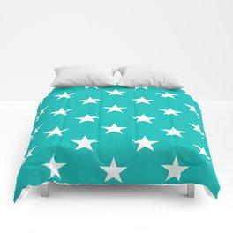 Stars (White/Tiffany Blue) Comforters