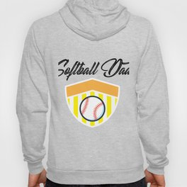 Softball And Dad For Men - Fathers Day Gifts Hoody