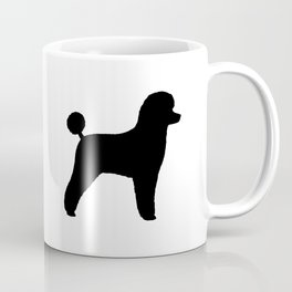 Black Toy Poodle Silhouette Coffee Mug