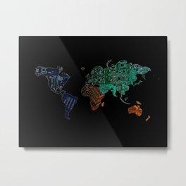 wor(l)d Metal Print