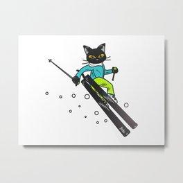 Ski action Metal Print