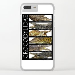 Crocodiles of the World Clear iPhone Case