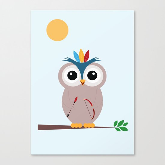 Be brave with owl Canvas Print