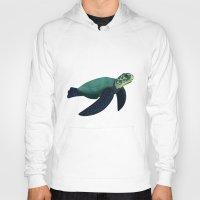 sea turtle Hoodies featuring Turtle by Imaginative Ink