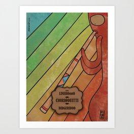 CIORIØOUITTI From LinebOo0O (Didgeridoo) Art Print