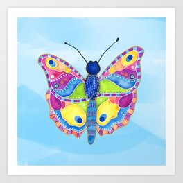 Butterfly II on a Summer Day Art Print
