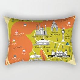 Map of Kazan Rectangular Pillow