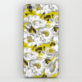 Mount Cook Lily - Yellow/White iPhone Skin
