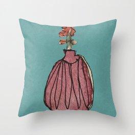 Pink Vase Throw Pillow