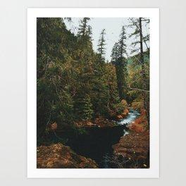 McKenzie River Trail - Blue Pool Art Print