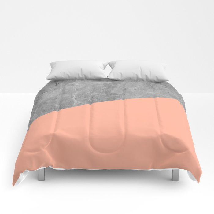 Geometry 101 Sweet Peach Pink Comforters