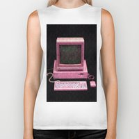 inside gaming Biker Tanks featuring Retro Gaming by Cullen Rawlins