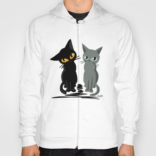 Black and gray Hoody