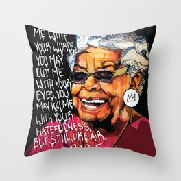 Maya Angelou Throw Pillow