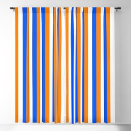 Team Colors 4... orange , blue  and white Blackout Curtain