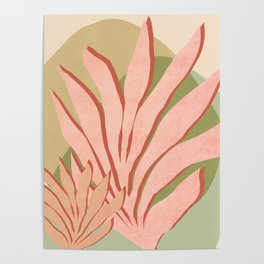 Sea grass - Shapes and Layers no.37 Poster