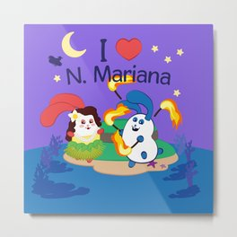 Ernest & Coraline | I love Northern Mariana Islands Metal Print