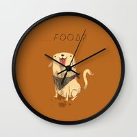 food Wall Clocks featuring food? by Louis Roskosch