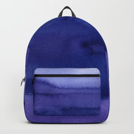 Blue Violet Watercolor Horizontal Stripes Abstract Backpack