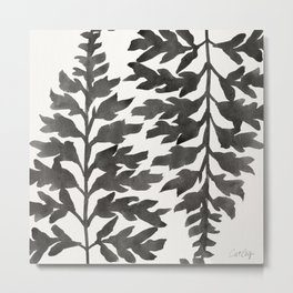 Black Fern Metal Print