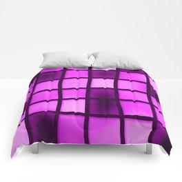 Pink Grid Comforters