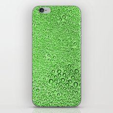 Water Condensation 05 Green iPhone & iPod Skin