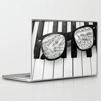 piano Laptop & iPad Skins featuring piano by emyemyemyy