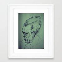 camus Framed Art Prints featuring Camus Torpedo by Kratcheroo