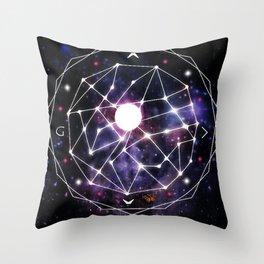 Gods Compass Throw Pillow