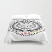 germany Duvet Covers featuring Germany Crest by George Williams