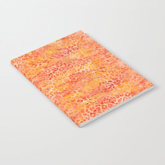 Orange Leopard Print Notebook