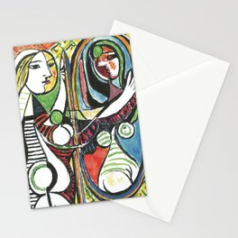 Pablo Picasso - Girl Before Mirror 1932 - Artwork for Prints Posters Tshirts Men Women and Kids Stationery Cards