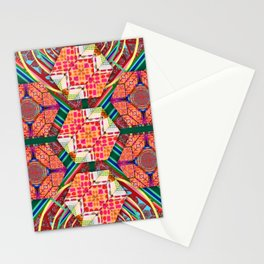 277 green blue red orange yellow Stationery Cards