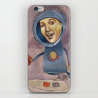 spaceship iPhone & iPod Skins featuring SPACESHIP by busymockingbird