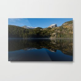 Hallett Peak Reflection - Rocky Mountain National Park Metal Print